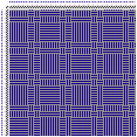 Hand Weaving Draft: Figure 1694, A Handbook of Weaves by G. H. Oelsner, 2S, 2T - Handweaving.net Hand Weaving and Draft Archive