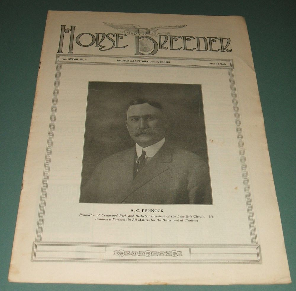 A vintage issue of the american horse breeder magazine for