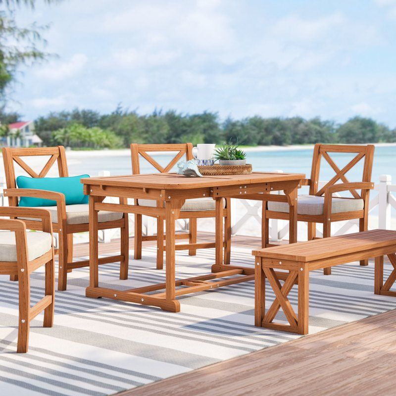 Lafonso 6 Piece Patio Dining Set Patio Dining Set Patio Dining Outdoor Furniture Sets