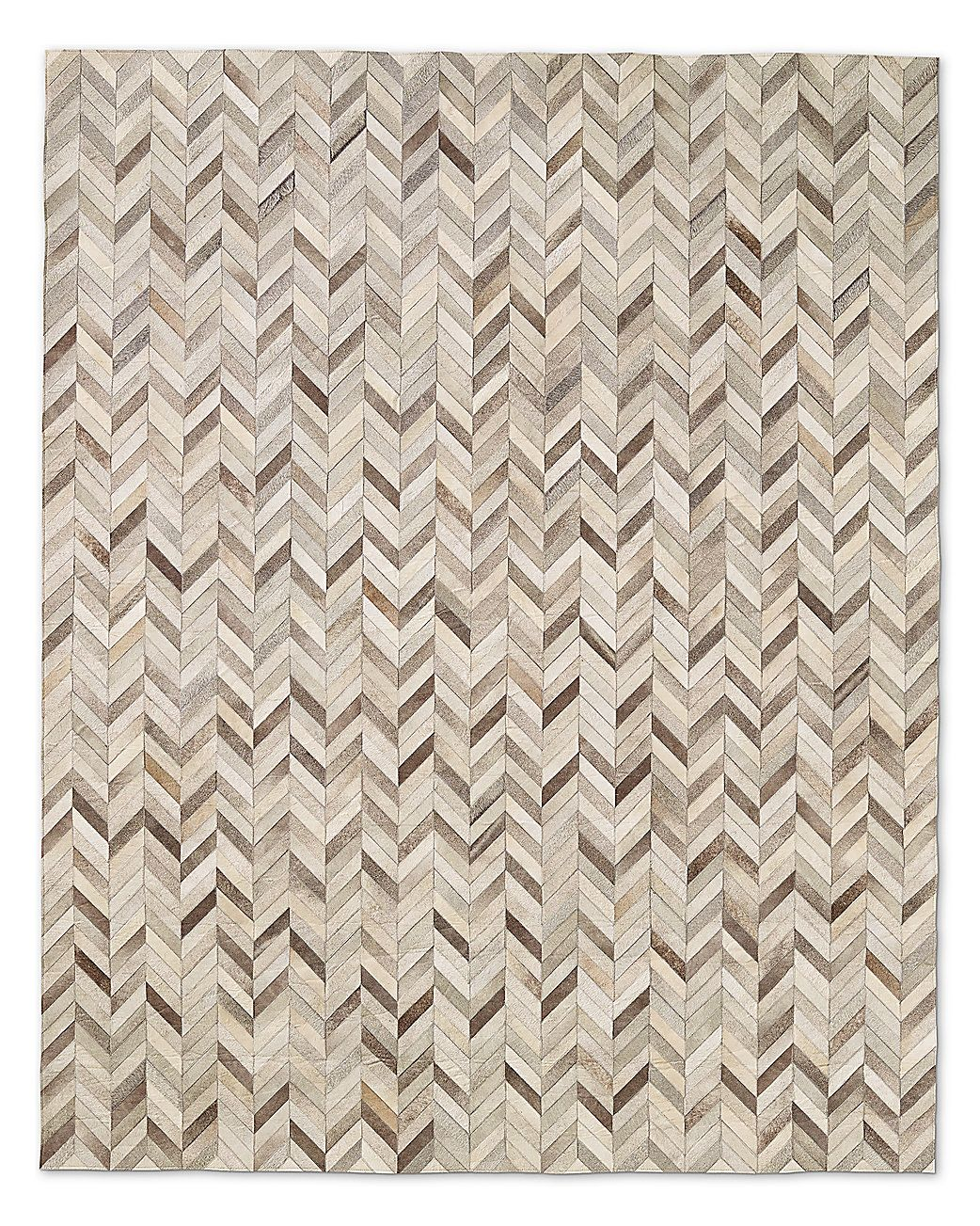 My Favorite Rug Chevron Cowhide Grey