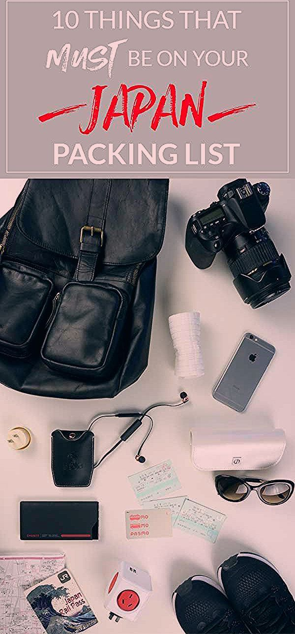 Photo of Essential items when packing for travel in Japan