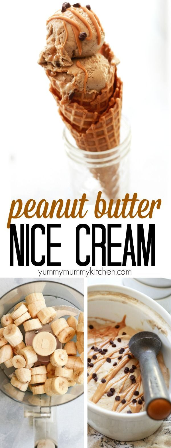 Butter Banana Nice Cream Banana nice cream flavored with peanut butter and chocolate chips is an easy, healthier, dairy-free vegan ice cream dessert recipe made with real food ingredients.Banana nice cream is a great recipe for kids to help make.Banana nice cream flavored with peanut butter and chocolate chips is an easy, he...