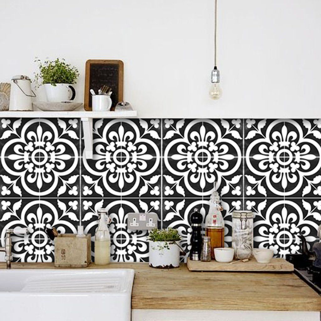 Corona In Black Wallpaper Removable Vinyl Wall Decals Tile