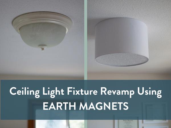 Diy Ceiling Light Fixture Revamp Using