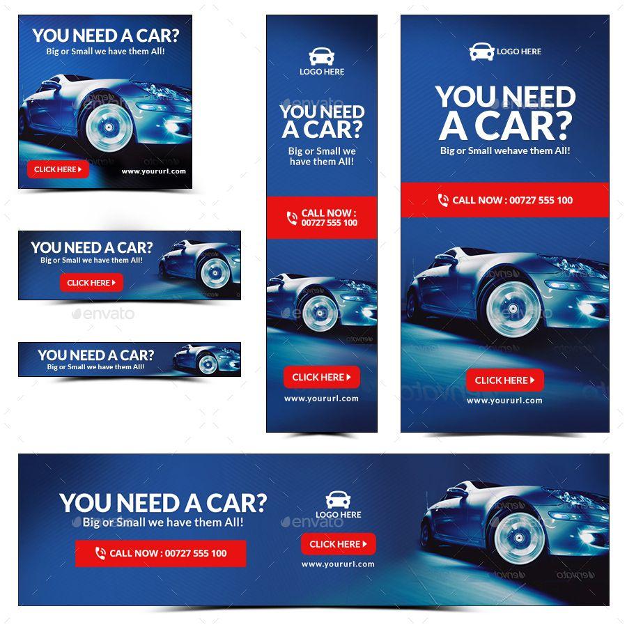 Car Dealership And Rental Web Banner Set Bundle Over 50 Sets 842 Banners Updated Banner Ads Design Web Banner Web Banner Design