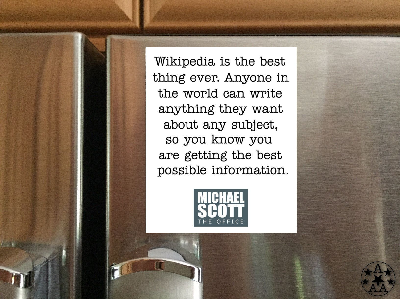 Wikipedia Quote Magnet Fridge Magnet Michael Scott Quote Etsy Magnet Quotes Fridge Magnets Birthday Cards For Friends