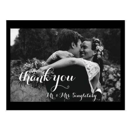 #wedding #thankyoucards - #Black and White Thank You Card