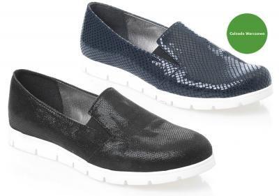 Polskie Wygodne Polbuty Wkladka Skora Blue Black 5999298414 Oficjalne Archiwum Allegro Slip On Sneaker Shoes Sneakers