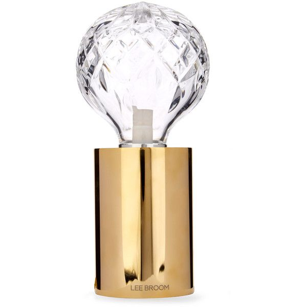 Lee Broom Clear Crystal Bulb Table Light 856 125 Cop Liked On Polyvore Featuring Home Lighting Table Lamps Crystal Glass Table Lamps Crystal Lighting C