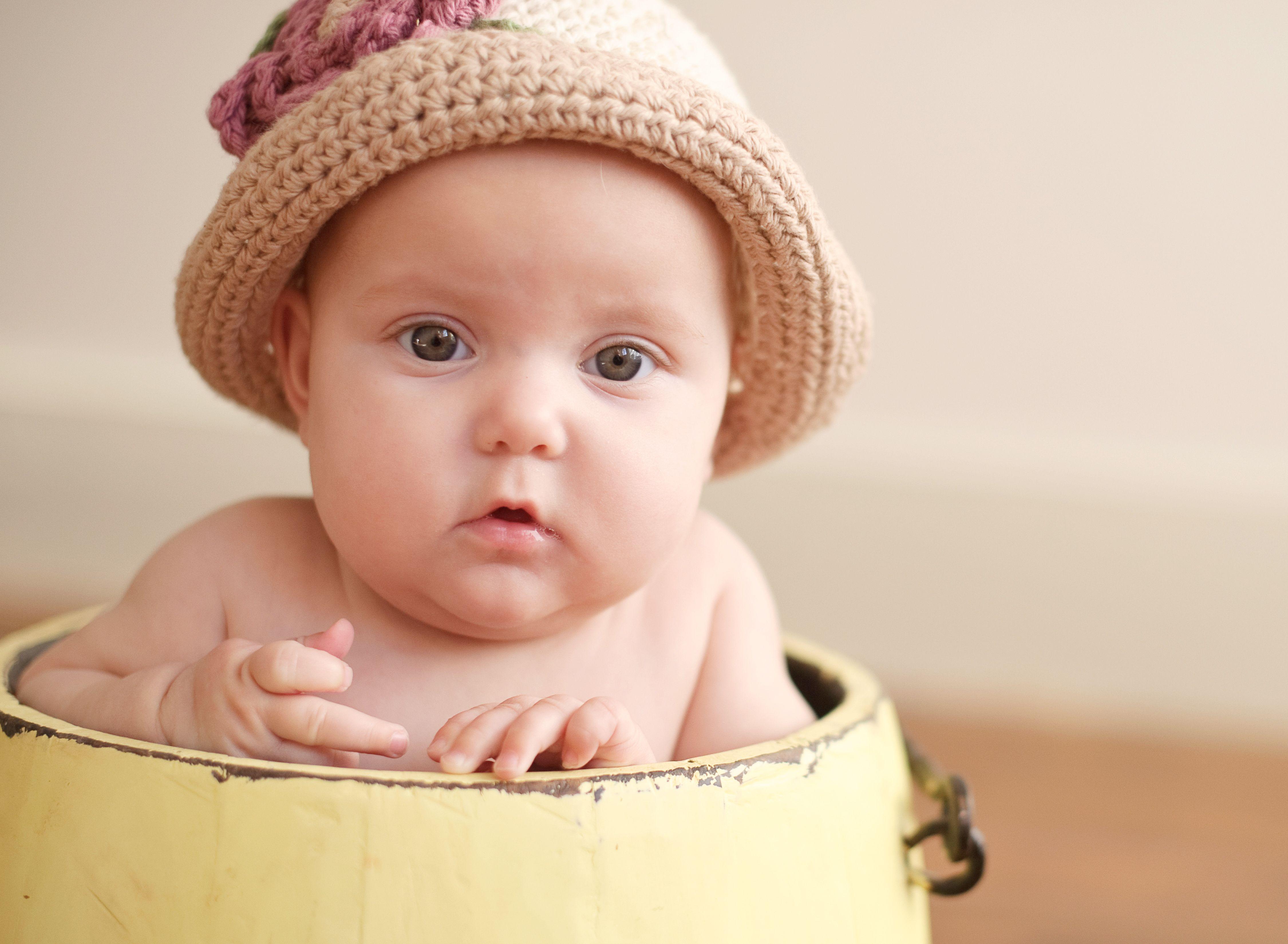 a cutie in a bucket!