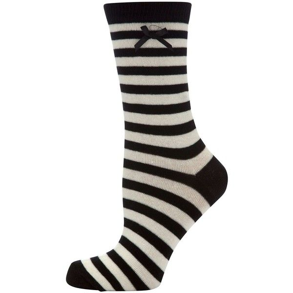Black and White Stripe Socks (£1) ❤ liked on Polyvore featuring intimates, hosiery, socks, black white socks, black and white socks, black and white stripe socks, ankle high socks and black and white striped socks