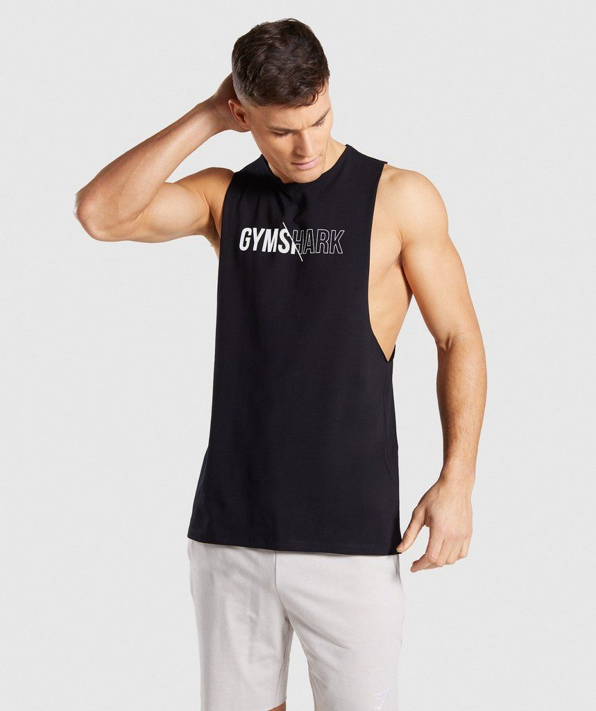 e1680e6c9272b The Distort Graphic Tank  a sharp contrast.- Flat fit and crew neck- Drop  armhole design- Straight hem- Gym and lifestyle hybrid- 95% Cotton