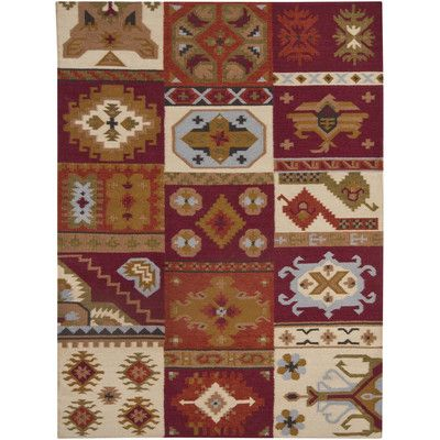 Loon Peak Dupoint Flat Woven Red Brown Area Rug Rug Size