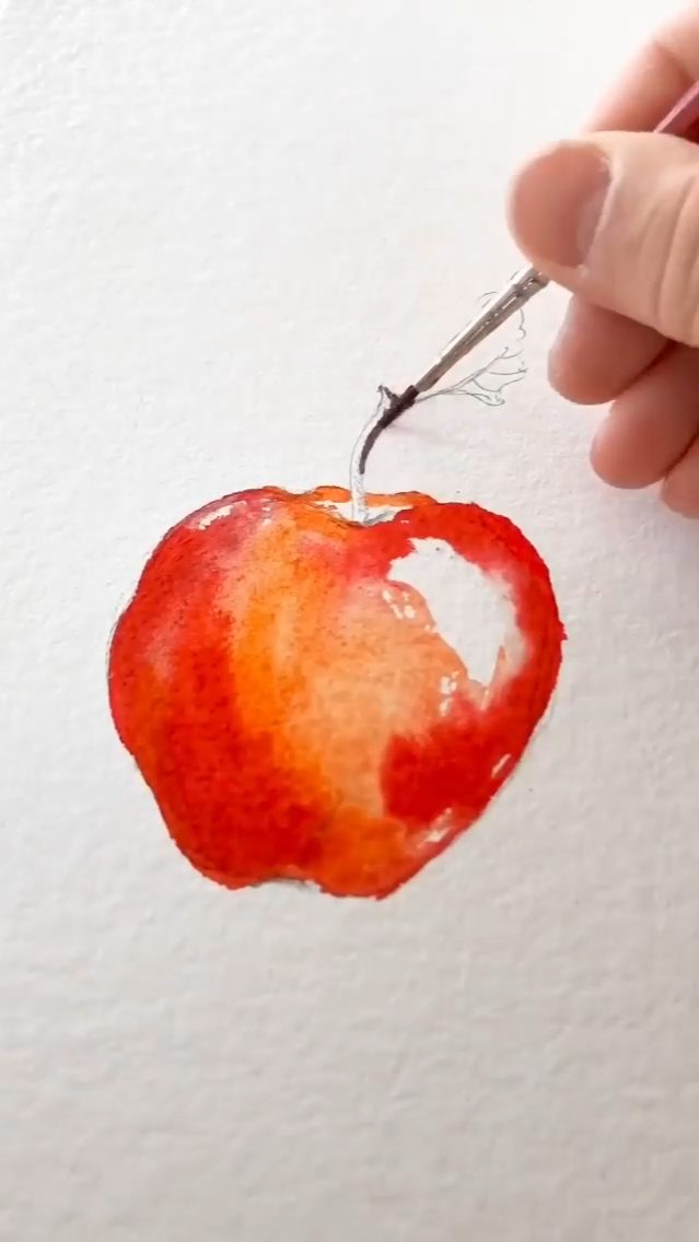 🍎 watercolor apple painting 🍎