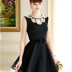 Como adornar un vestido negro de fiesta