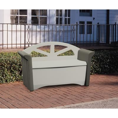 Rubbermaid Patio Storage Bench Fg376401olvss Home Depot Canada Patio Storage Patio Storage Bench Patio Bench