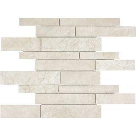 Anatolia Tile Crema Luna Marble Polished Natural Stone Mosaic Random Wall Common X Actual