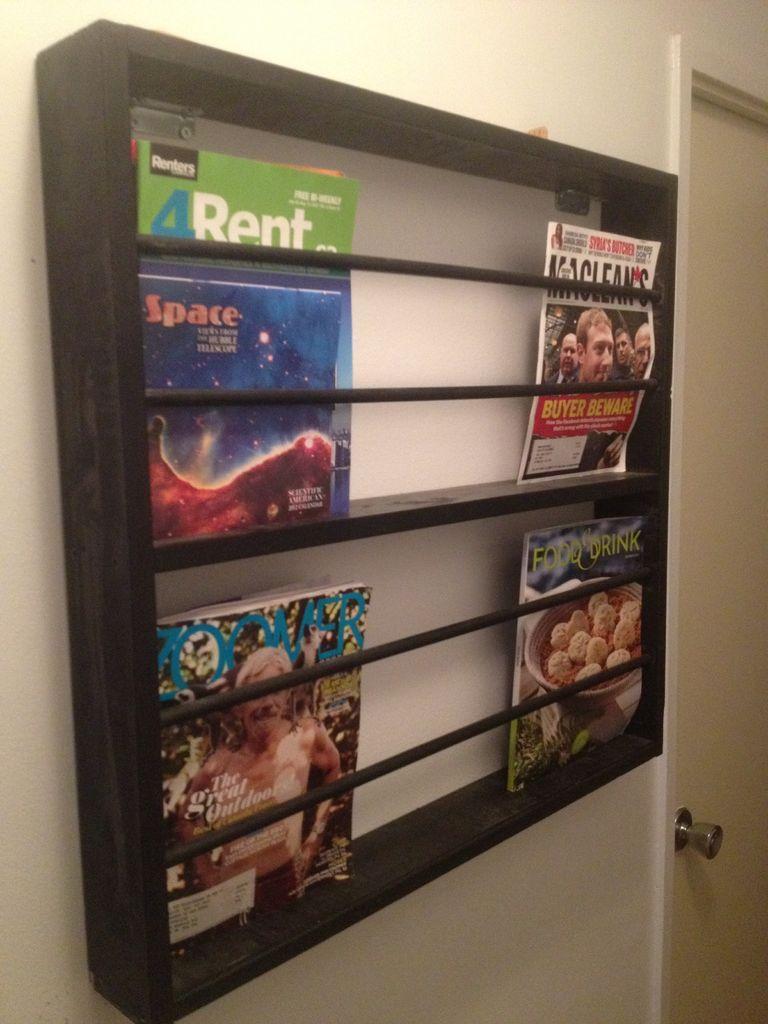 Wooden Magazine Rack From Ikea Parts Wooden Magazine Rack