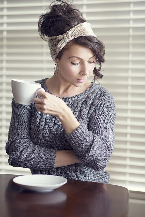 Free Crochet Latte Headband Pattern | Häkeln, Häkelideen und Mütze
