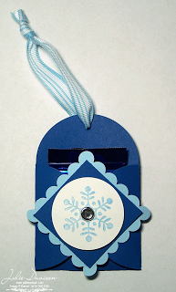 Snowflake treat holder project using the petal card