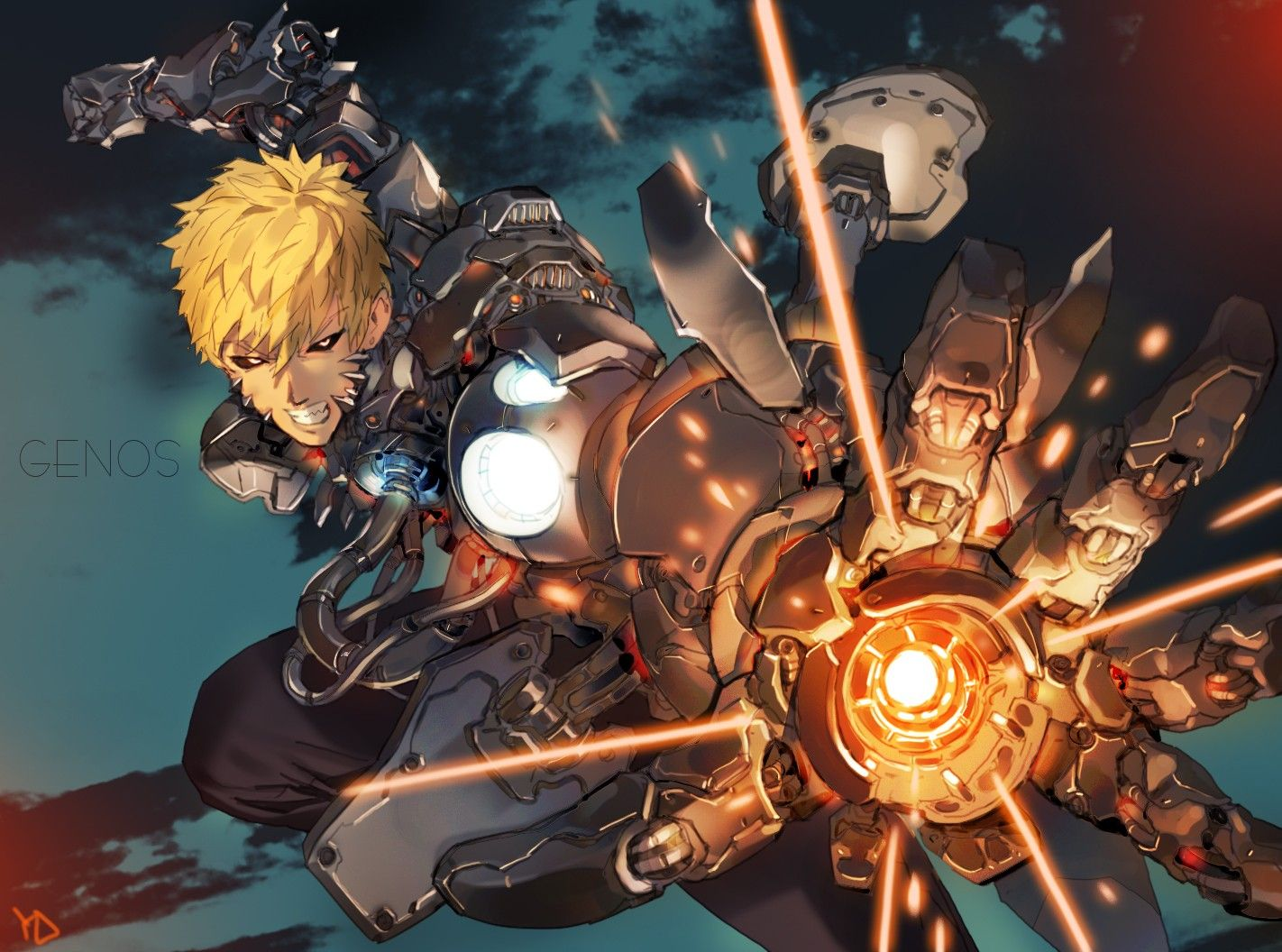 Incinerate Genos Personagens de anime, Anime luta, Anime