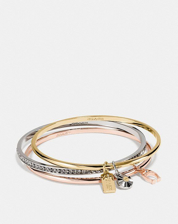 5ddbfb0a9dc0b2 Coach Signature Bangle Set in 2019   Jewelry   Bangles, Jewelry ...