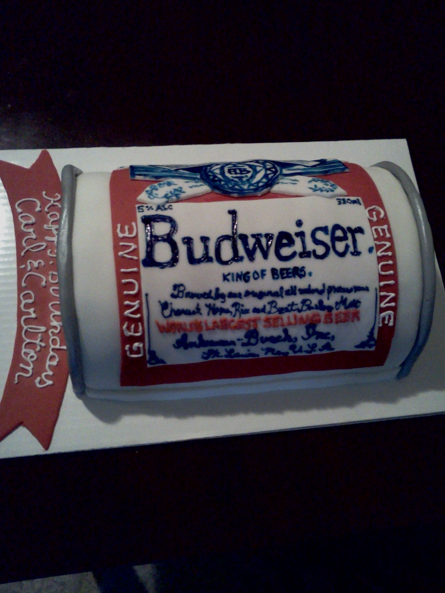 Budweiser Beer Can Cake My Own Cakes Pinterest