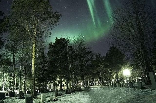 Elvebakken, Finnmark Fylke, NO. The Northern Lights