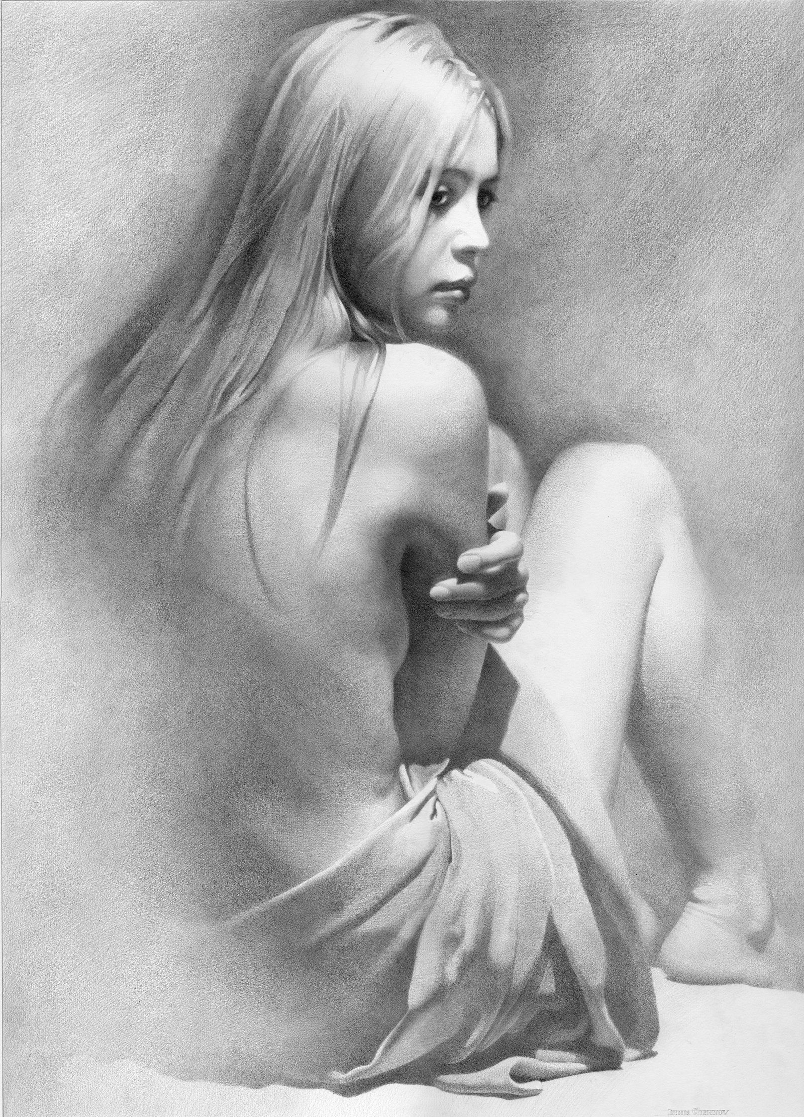 Model vi by dchernov female figure drawing