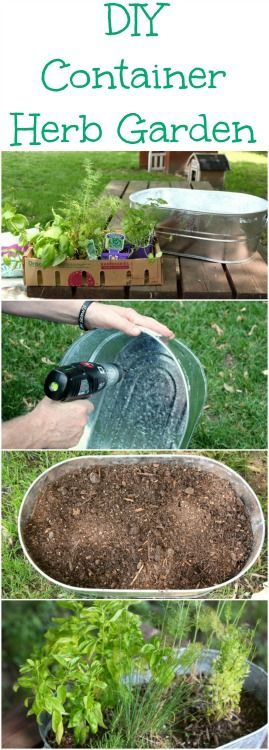 Create your own DIY Container Herb Garden with these step by step directions