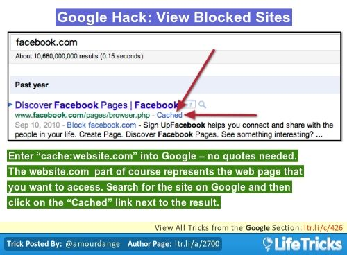 Google hack view blocked sites love this life hacks pinterest google hack view blocked sites love this ccuart Choice Image