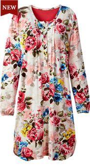 e9d968a4f7e2 Womens English Rose Nightgown