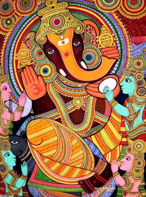 Om namo ganesha ganesha 39 art 39 pinterest ganesha om for Mural art of ganesha