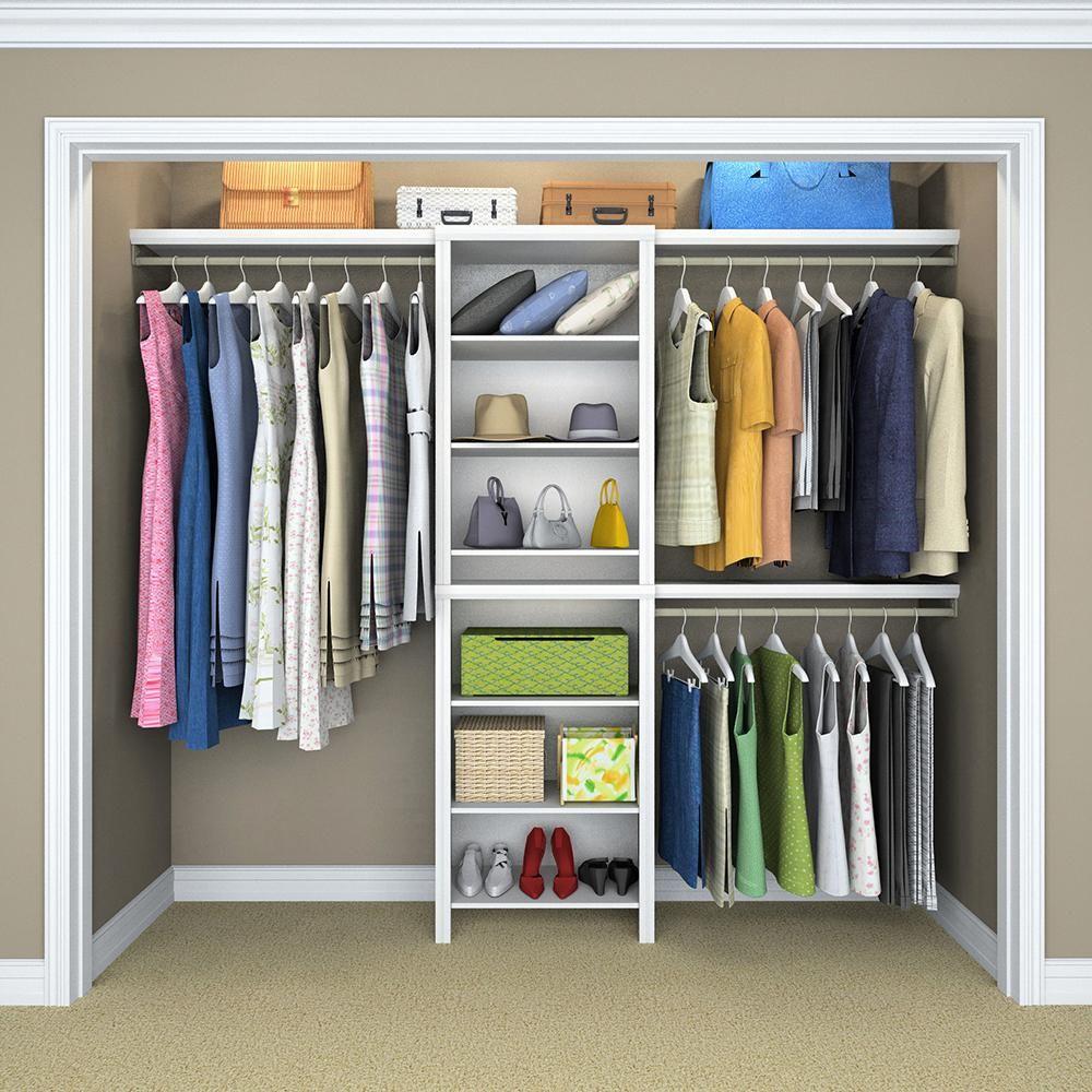 Wonderful ClosetMaid Impressions 5 Ft.   10 Ft. White Basic Closet System