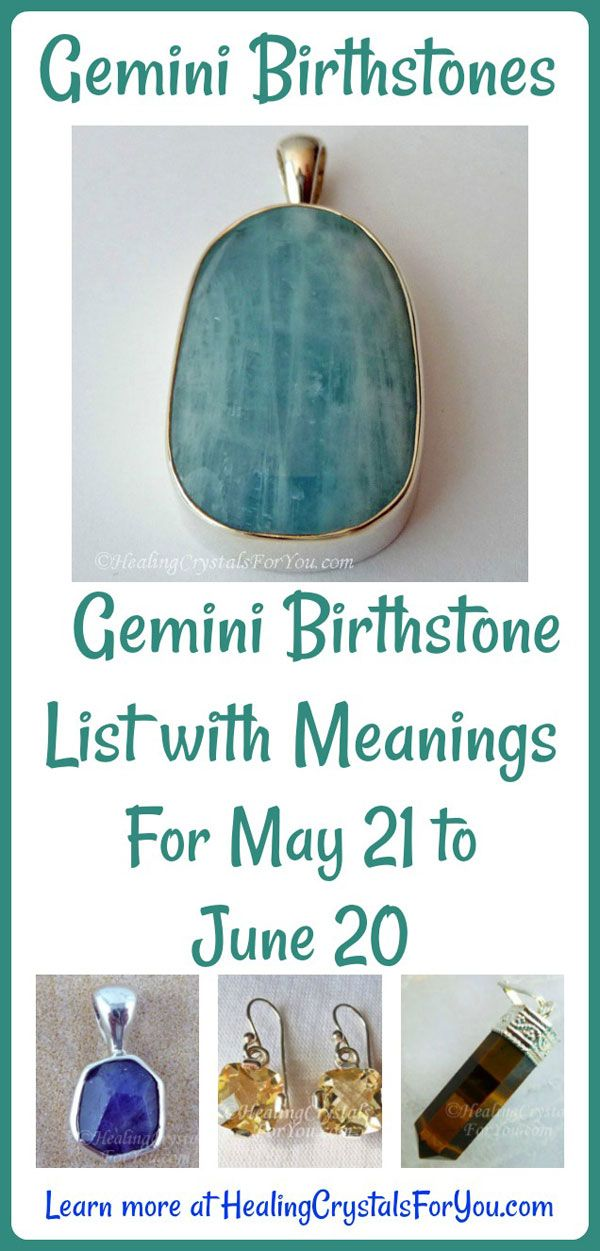Gemini Birthstone List of Birthstones & Meanings 21st May to