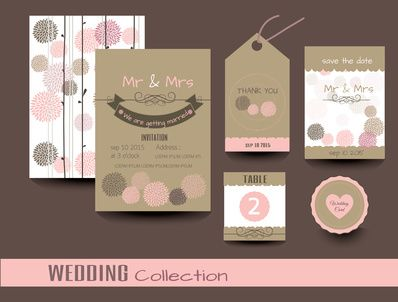 DIY Wedding invitations Thank you card Save the Date cards DIY