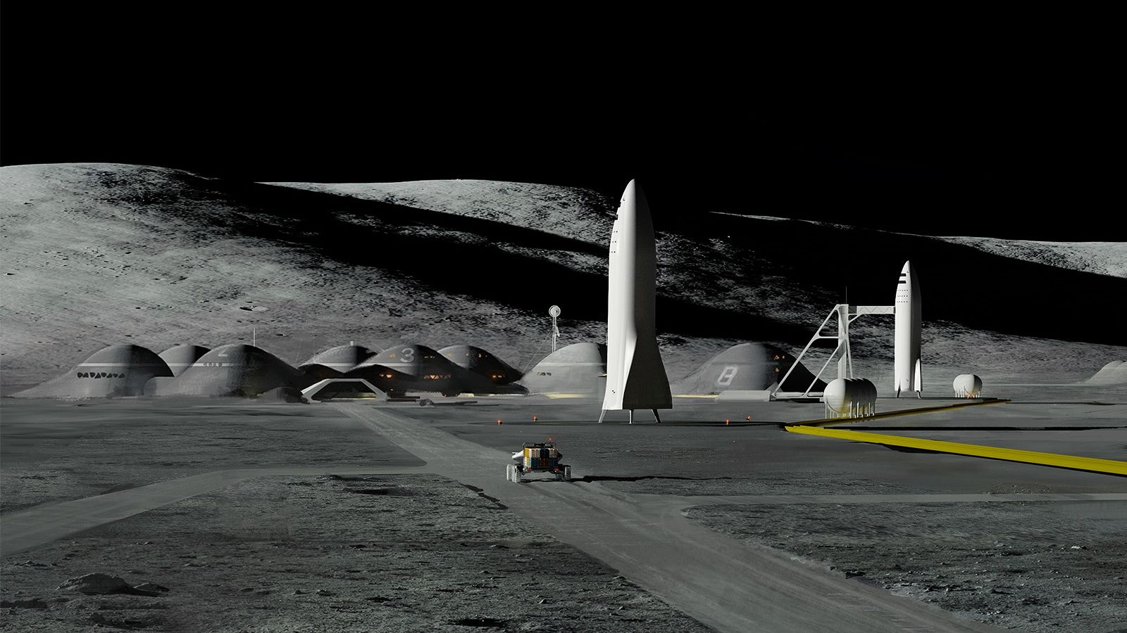 SpaceX Moon Base Alpha | Space and astronomy, Space travel, Spacex starship