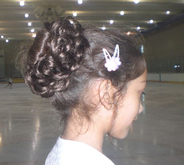 How To Wear Your Hair For Figure Skating Competition Hair Figure Skating Hair Volleyball Hairstyles