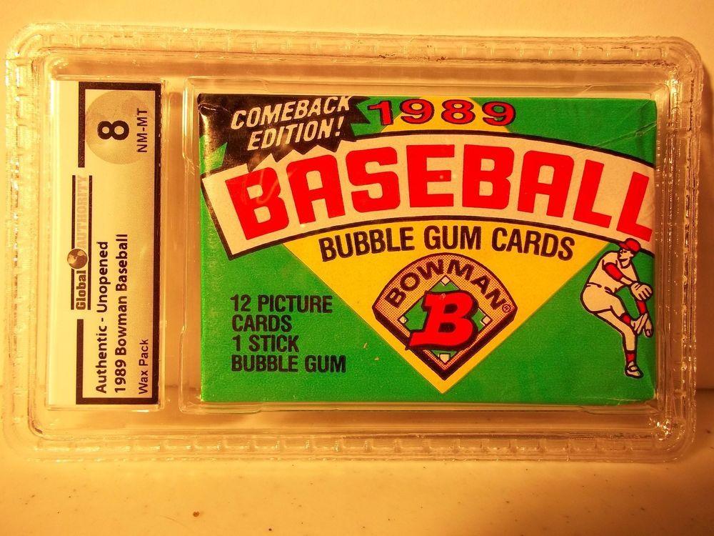 1989 bowman baseball pack ga graded nmmt 8 ken griffey jr
