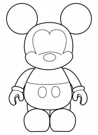 Molde de Mickey Mouse para goma eva (Manualidades Reciclables) in ...