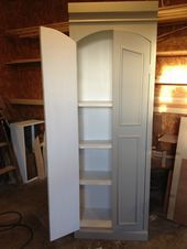 DIY Ballard Designs Knock Off Pantry Cabinet  Garage DIY Ballard Designs Knock Off Pantry Cabinet  Garage