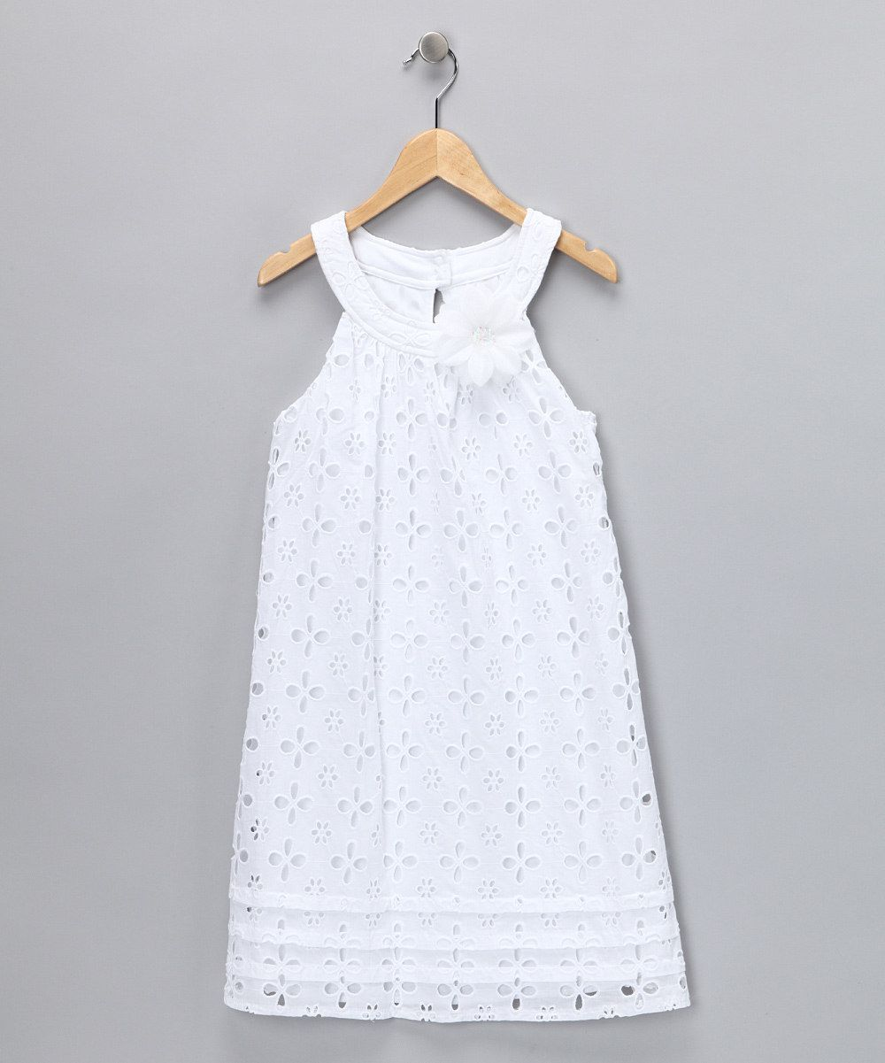 City Triangles White Eyelet Dress Girls Zulily White Eyelet Dress Girls Dresses Little Girl Dresses [ 1201 x 1000 Pixel ]