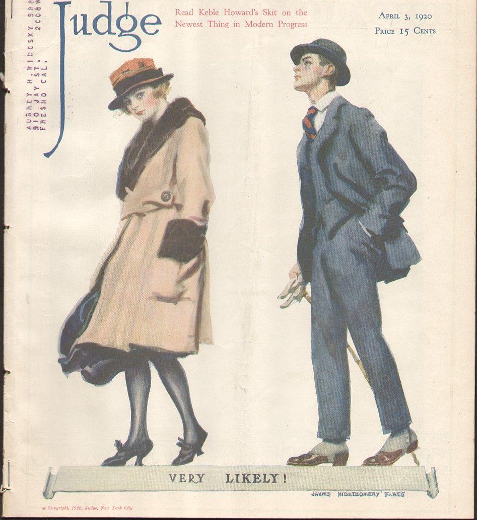 Vintage Judge Magazine 1920s Couple (Image1)