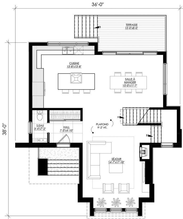 Plan De Maison E 140 Legue Architecture Plan De Maison Plan Maison Plan Maison Architecte