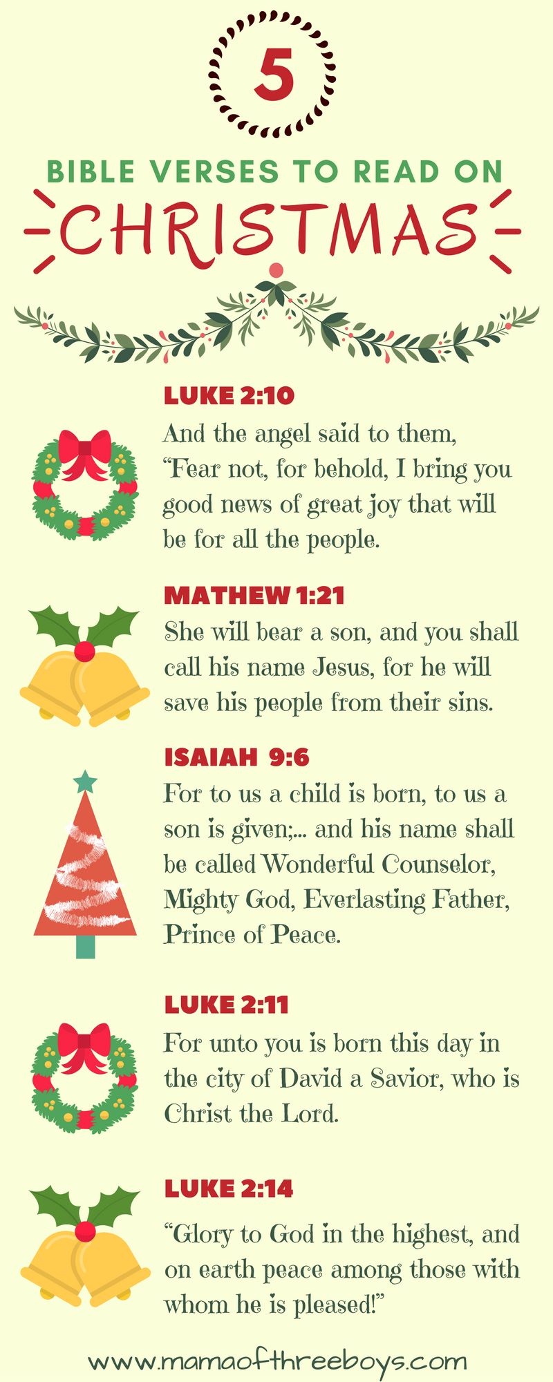 Bible Verses To Read On Christmas   Mama Of Three Boys