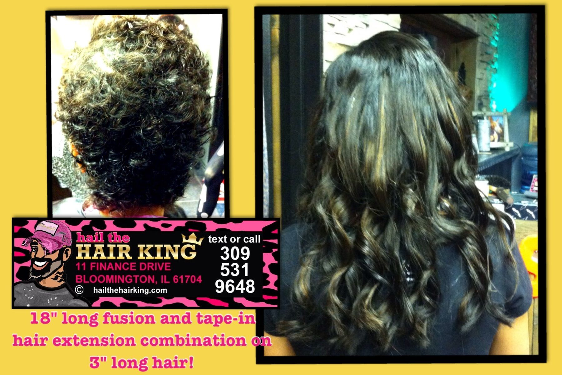 From 3 To 18 Fusion And Tape In Extension Combination By Travis