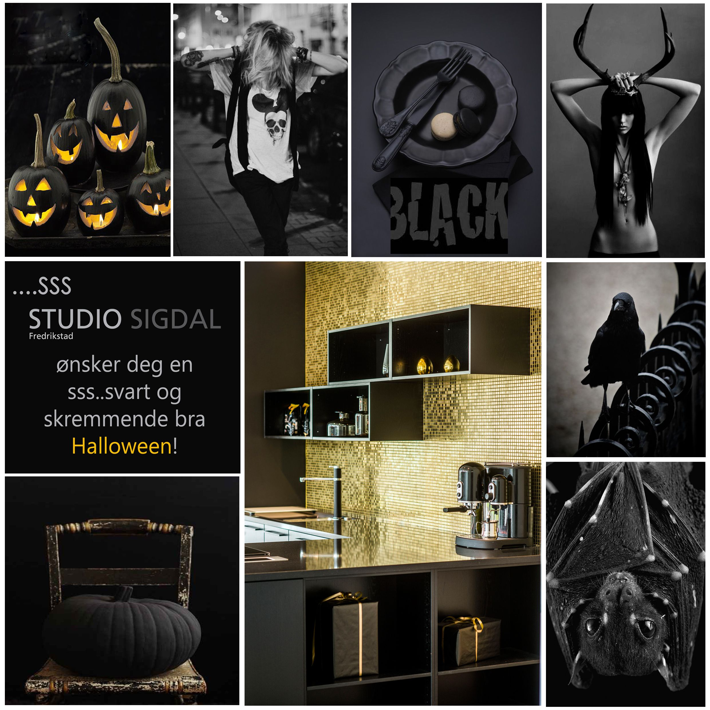 Moodboard made for Halloween. Design: Nina Th. Oppedal