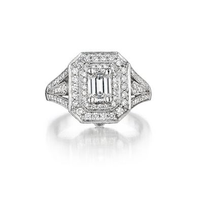 Emerald-Cut Deco Ring Penny Preville, Naples Jewelery