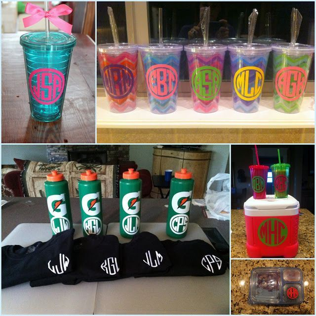 How to make waterproof vinyl monograms...because everything I own needs to be monogrammed!!