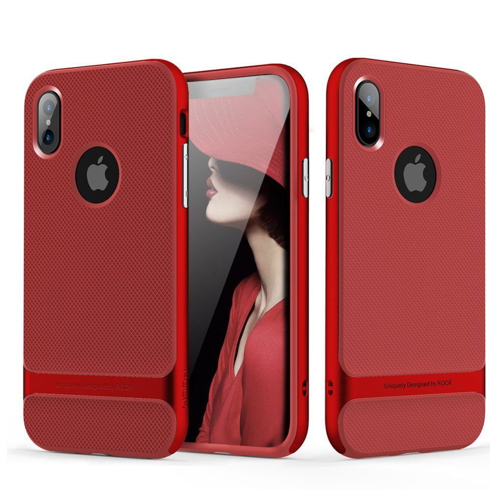 new product 9ee33 b5774 iPhone X Case, ROCK [Royce] - Red [Ultra Thin] [Heavy Duty] iphone x ...